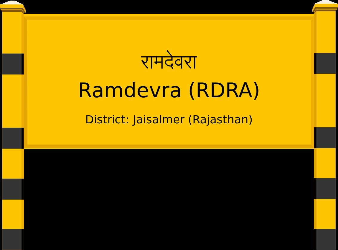 Ramdevra (RDRA) Railway Station