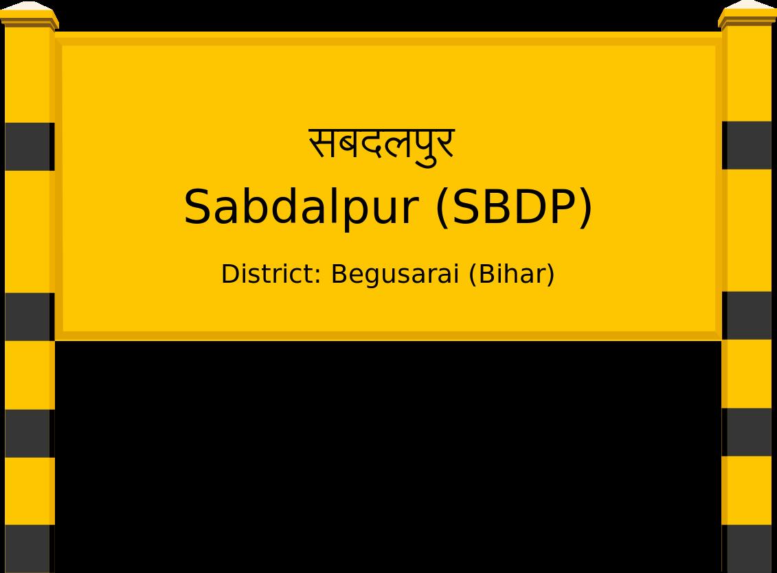 Sabdalpur (SBDP) Railway Station