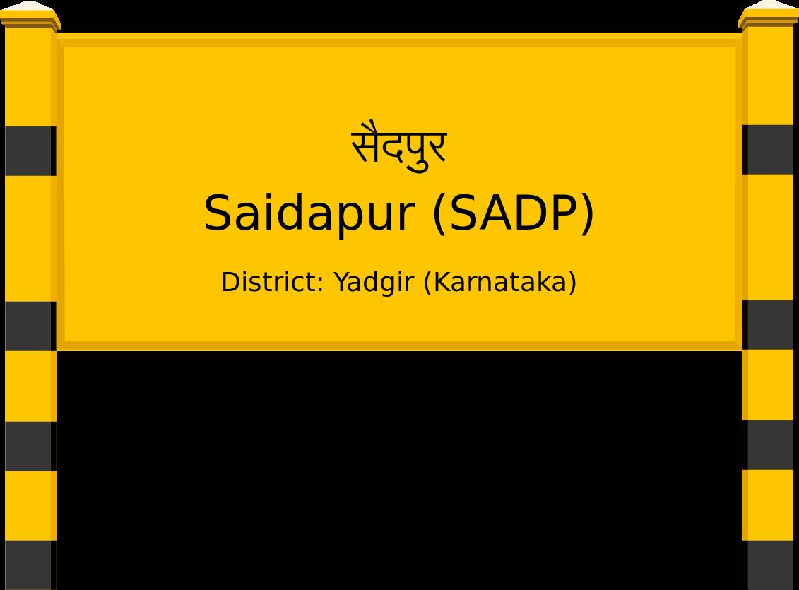 Saidapur (SADP) Railway Station