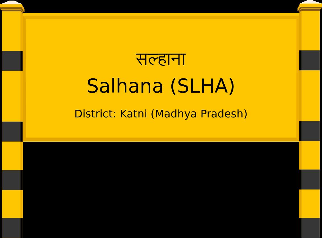Salhana (SLHA) Railway Station