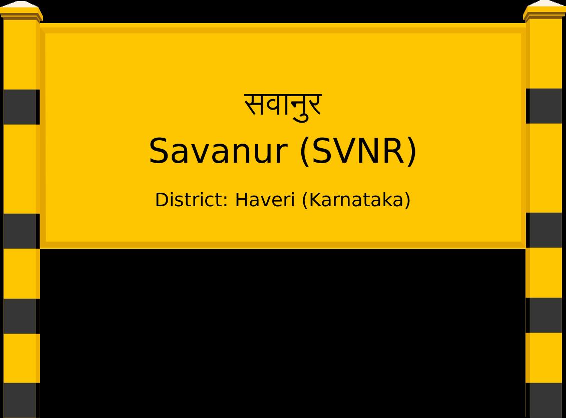 Savanur (SVNR) Railway Station