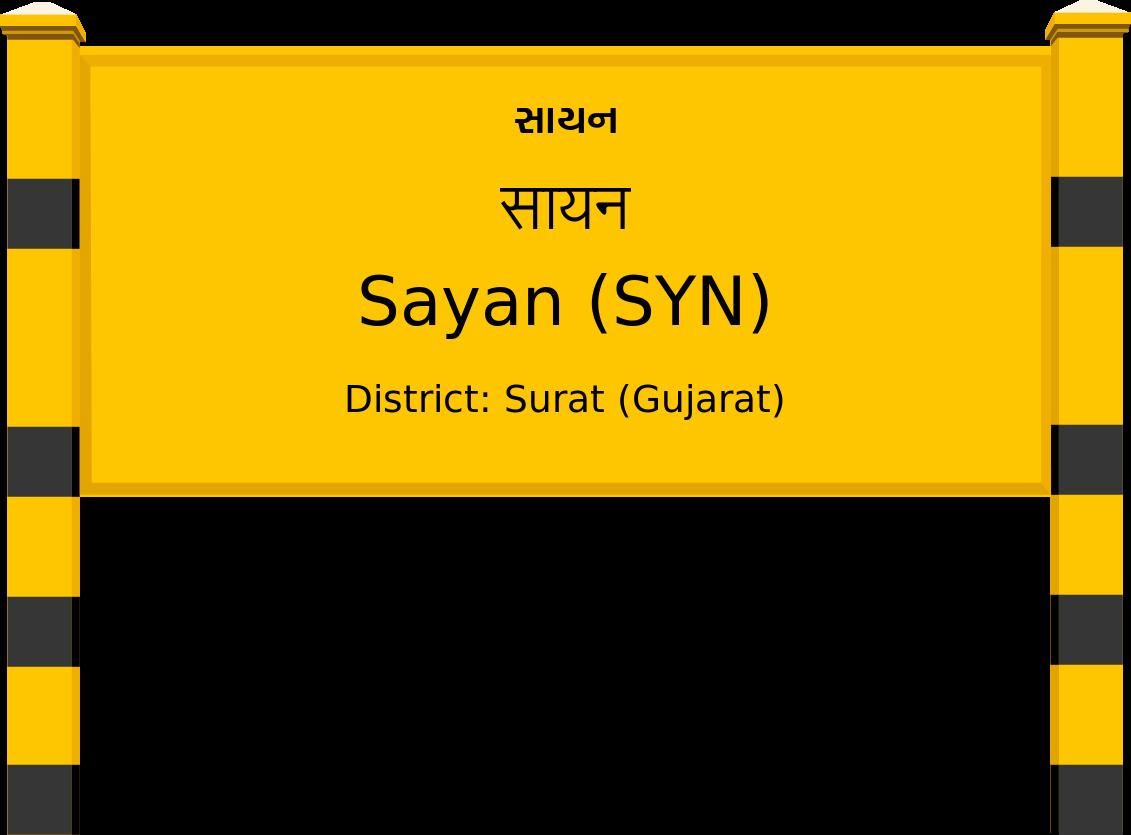 Sayan (SYN) Railway Station