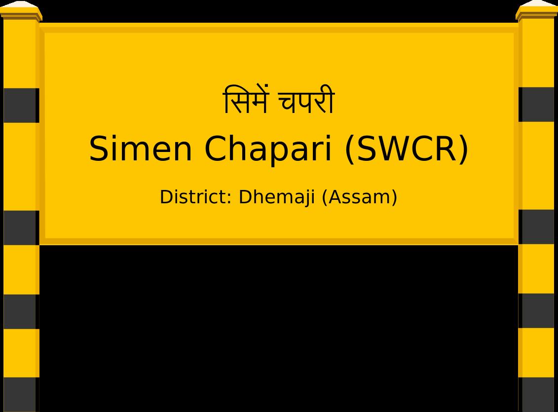 Simen Chapari (SWCR) Railway Station