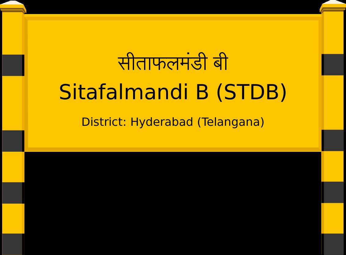 Sitafalmandi B (STDB) Railway Station