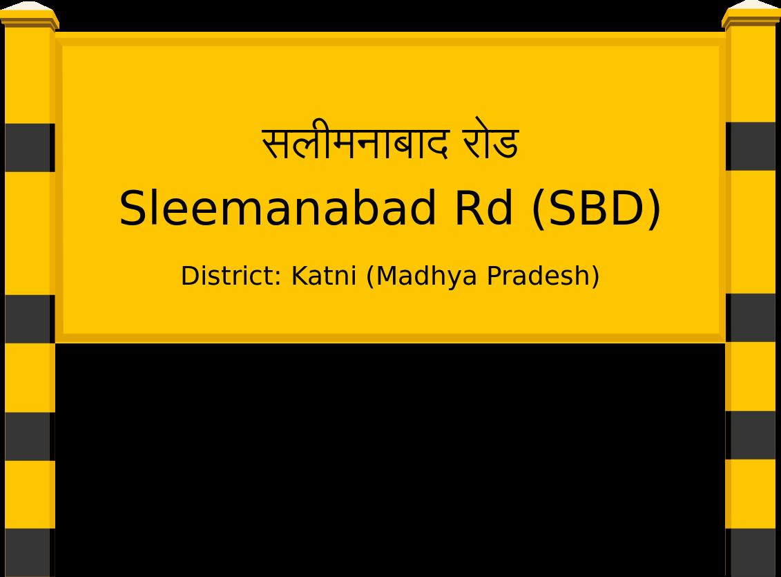 Sleemanabad Rd (SBD) Railway Station