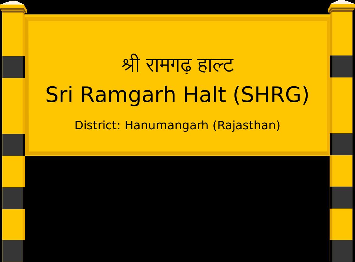 Sri Ramgarh Halt (SHRG) Railway Station