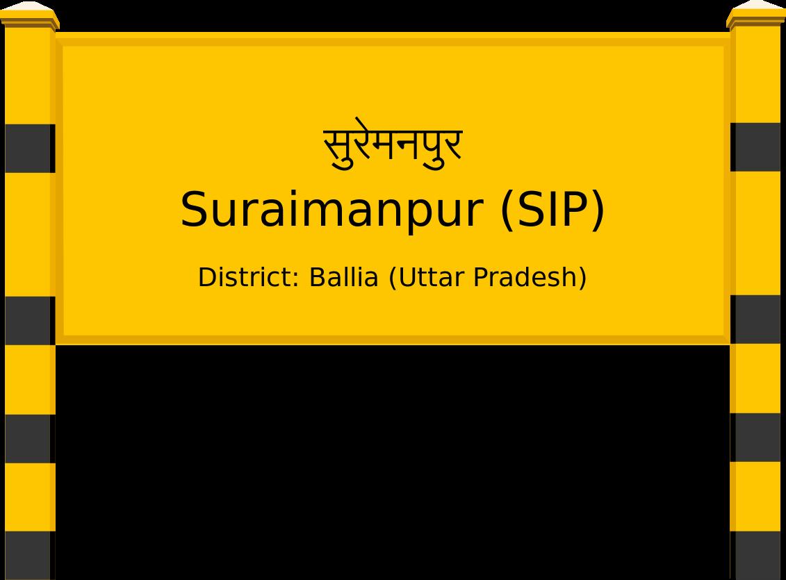 Suraimanpur (SIP) Railway Station