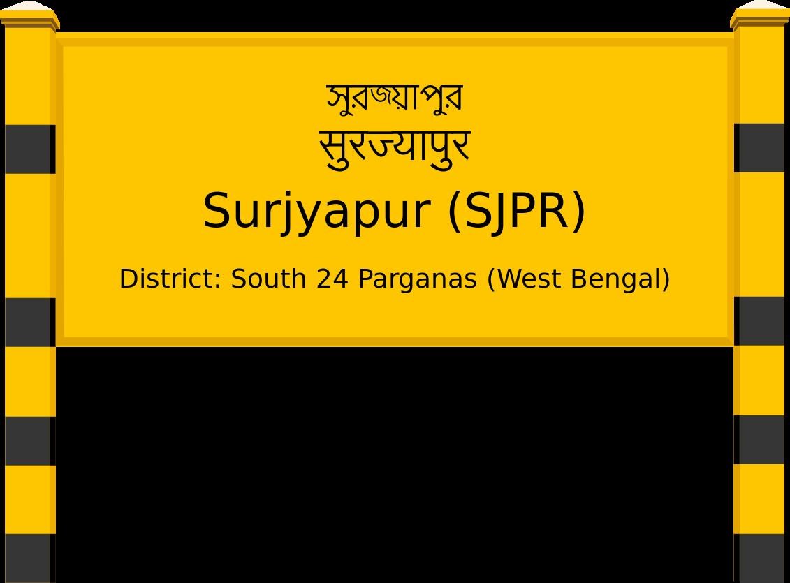 Surjyapur (SJPR) Railway Station