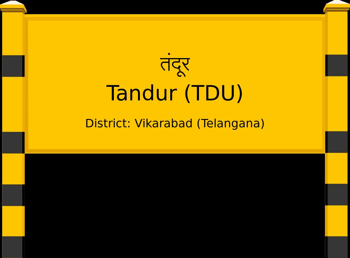 Tandur (TDU) Railway Station