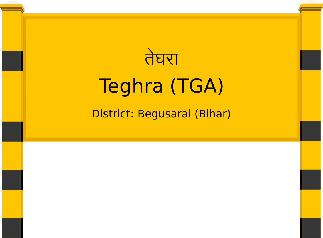Teghra (TGA) Railway Station