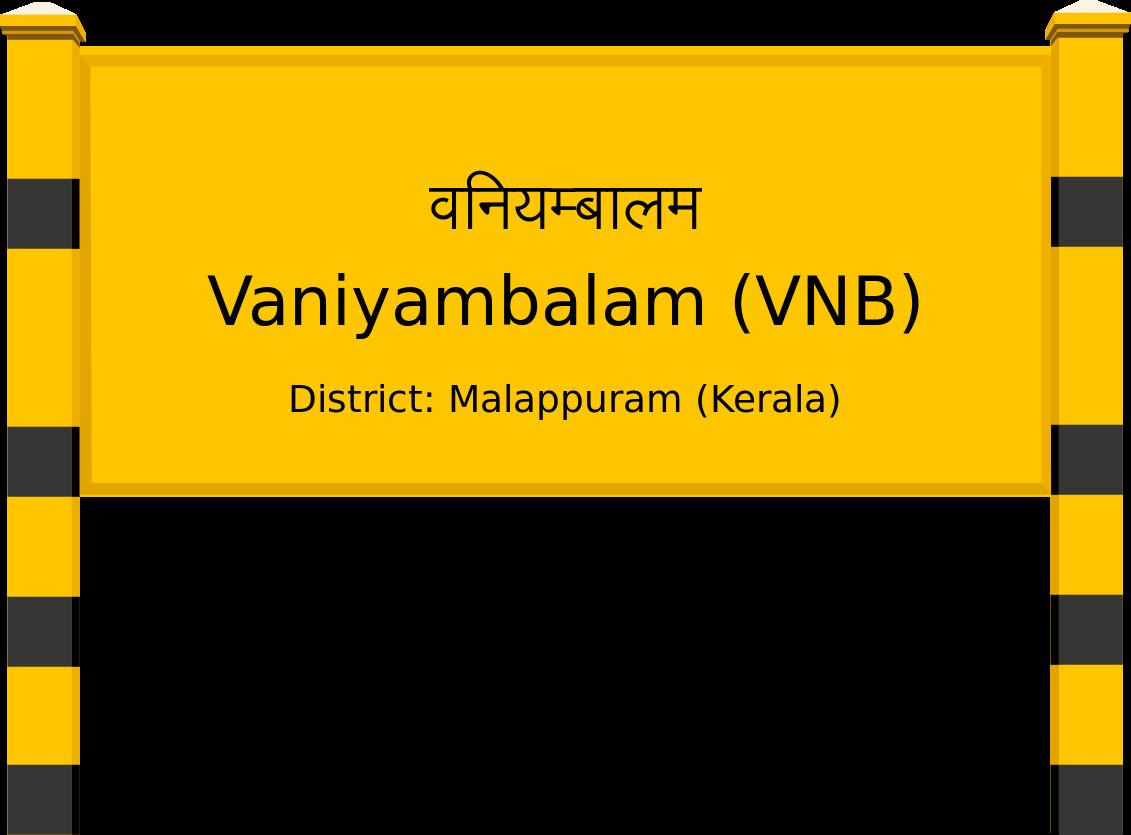Vaniyambalam (VNB) Railway Station