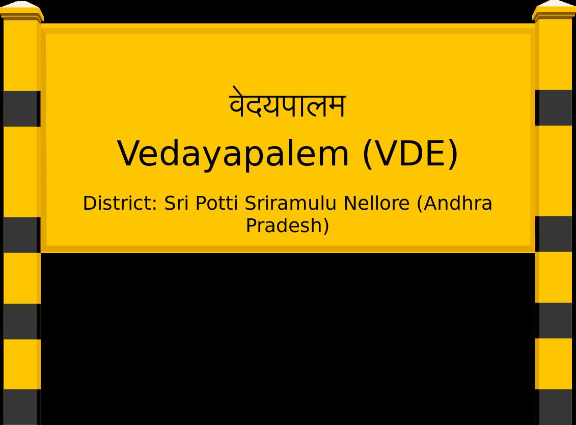 Vedayapalem (VDE) Railway Station