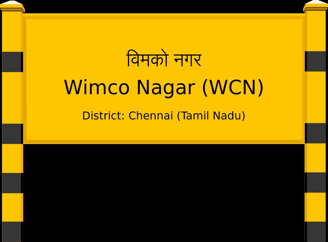 Wimco Nagar (WCN) Railway Station