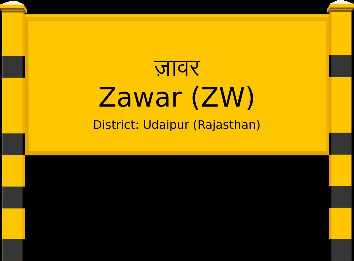 Zawar (ZW) Railway Station